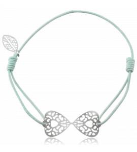 Bracelet élastique Vert papillon Ducatys