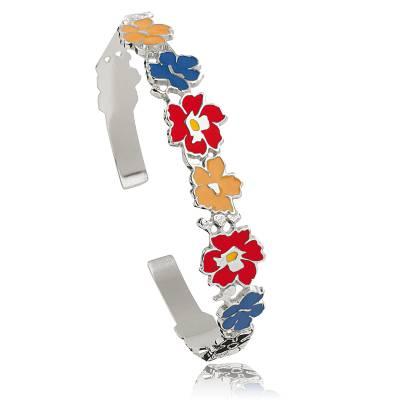 Bracelet argent Kenzo fleurs Imisshy