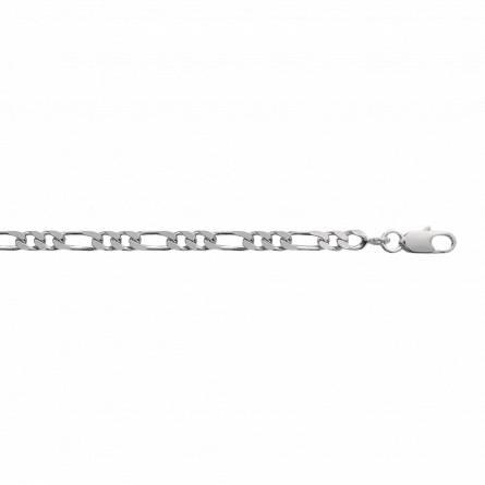 Bracelet argent maille figaro 1-2 4mm