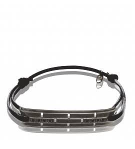 Bracelet argent noir Allegria
