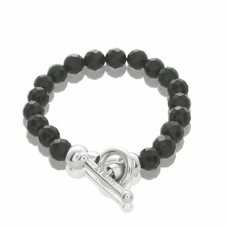 Bracelet argent noir pour charms Extase