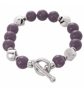 Bracelet argent pour charm's violet Premier Amour