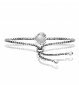 Bracelet Argent Rhodié Cœur Nacre emilie