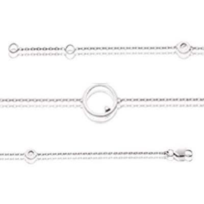 Bracelet argent rhodié diamant Éole