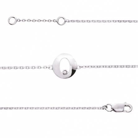 Bracelet Argent rhodié diamant Éoses