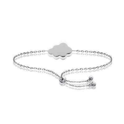 Bracelet Argent Rhodié Nuage