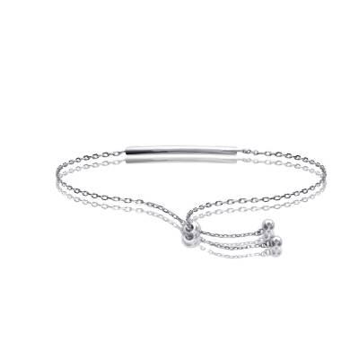 Bracelet Argent Rhodié Tube Louane
