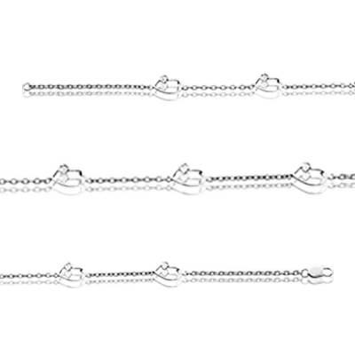 Bracelet Argent Rhodie diamant Cronos