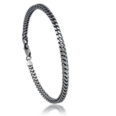 Bracelet argent Vieilli Lucas