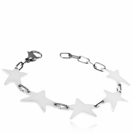 Bracelet étoiles céramique blanc Star