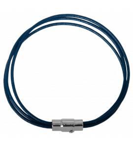 Bracelet bleu triple condense