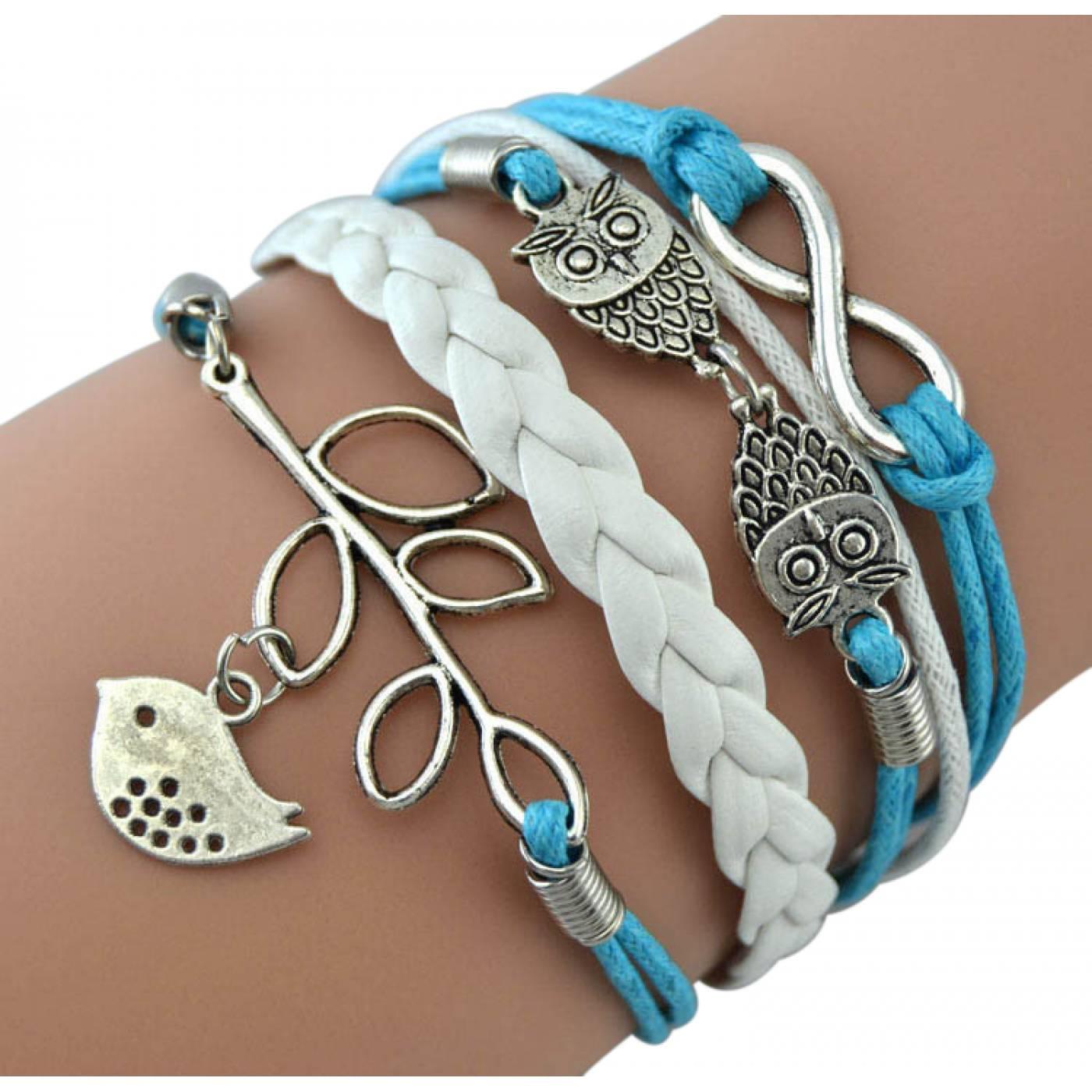 Bracelet brésilien Infini bleu hirondelle