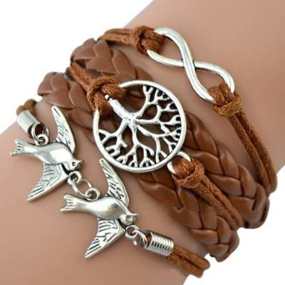 Bracelet brésilien Infini marron