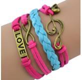 Bracelet brésilien Infini rose