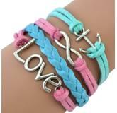 Bracelet brésilien Love Infini rose