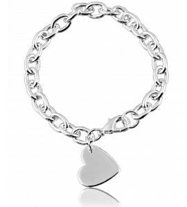 Bracelet breloques coeur unique
