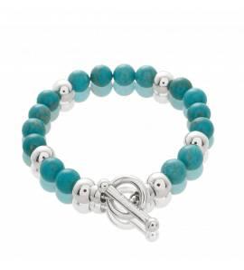 bracelet-charm-s femei argint Émotion zale bile turquesa