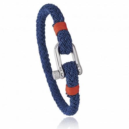 Bracelet corde et acier Jerian orange 2