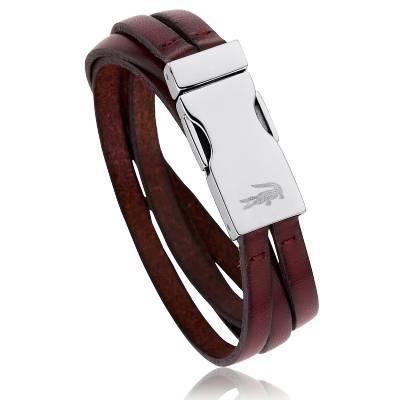 Bracelet Cuir Bordeaux Malik