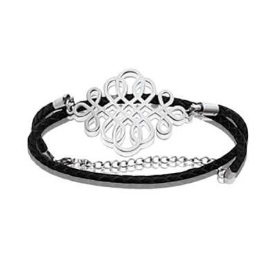 Bracelet cuir Deux rang desir