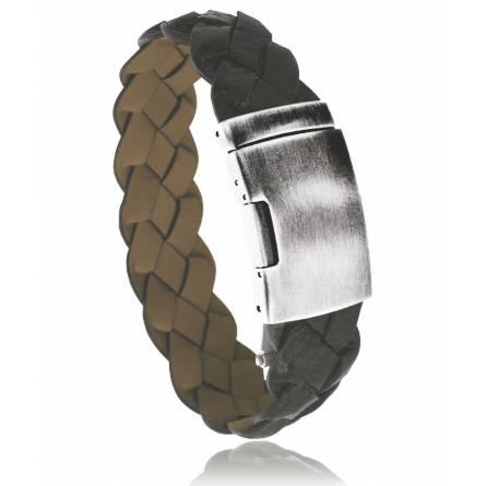 Bracelet cuir marron Angara