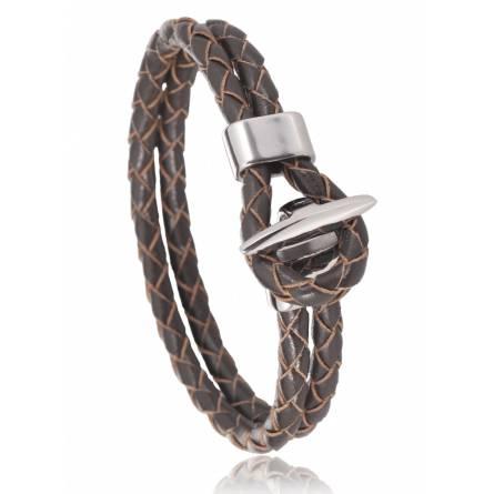 Bracelet cuir marron Bologne