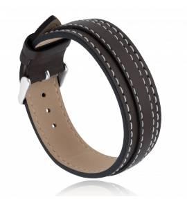 Bracelet cuir marron Felos