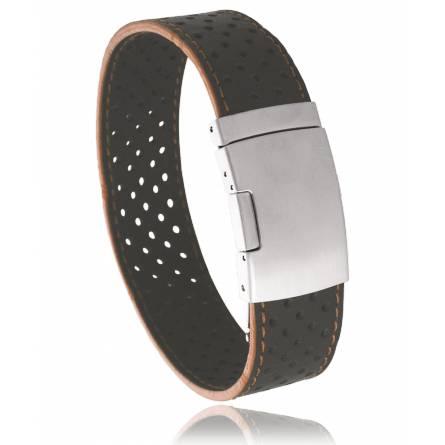 Bracelet cuir marron Titan