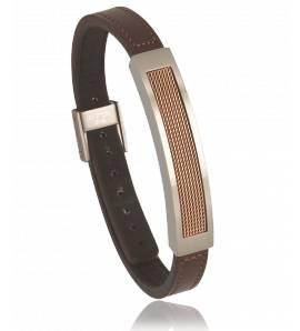 Bracelet cuir marron Vega