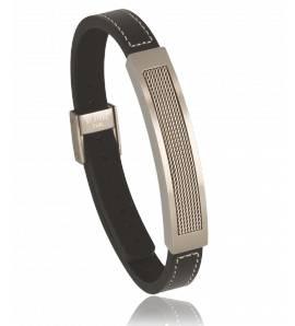 Bracelet cuir noir AMX30