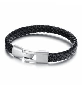 Bracelet Cuir Noir Luis