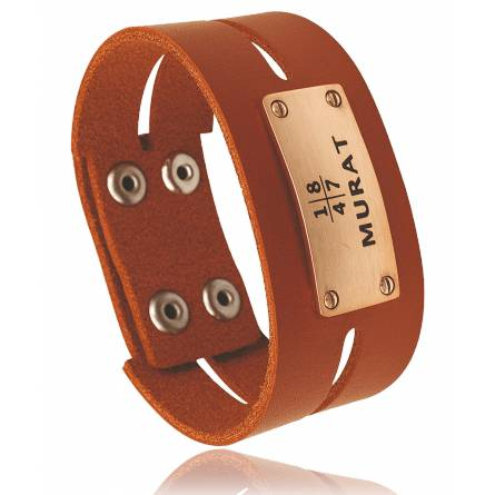 bracelet-de-force heren roestvrijstaal Caligura oranje