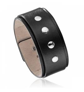 bracelet-de-force hombre acero Proton marrón