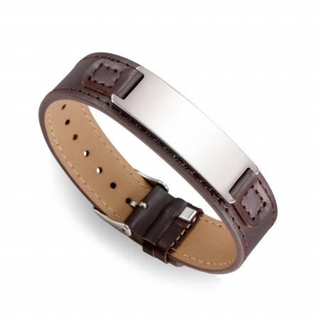 Bracelet de Force homme acier Ailpein marron