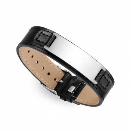 Bracelet de Force homme acier Aimo noir