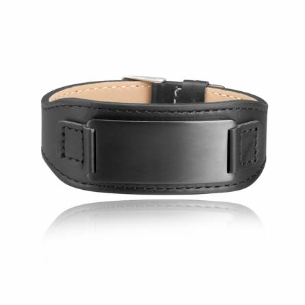 Bracelet de Force homme acier Akakios noir