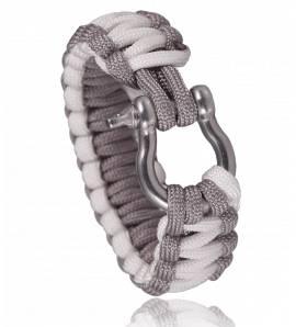 Bracelet de survie bicolore Gris blanc Chaker