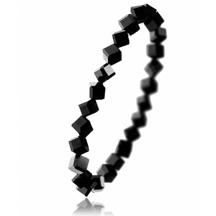 Bracelet en cristal noir carré Yulika