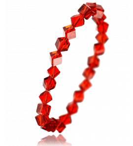 Bracelet en cristal rouge biseauté Zaïnab