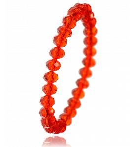 Bracelet en cristal rouge biseauté Zaola