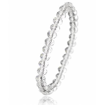 Bracelet en cristal translucide biseauté Zaneta