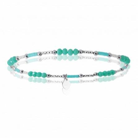 Bracelet enfant argent Kenzaburo vert