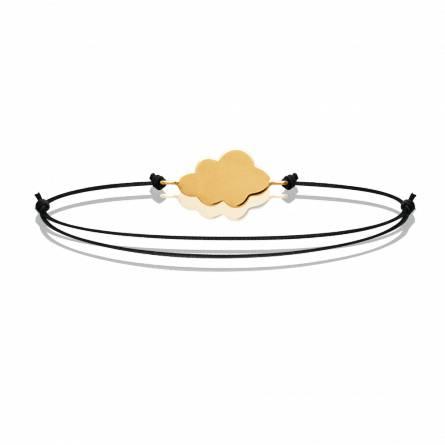 Bracelet enfant fils-cordon Cloudy noir