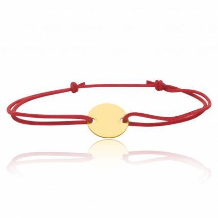 Bracelet enfant matiere or Bacela rouge