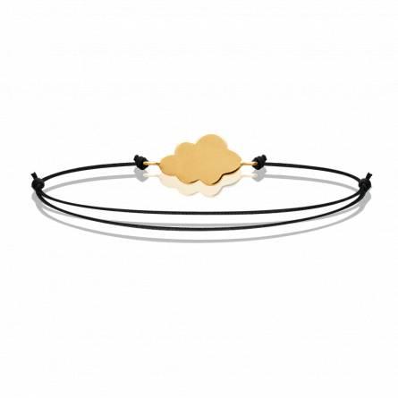 Bracelet enfant plaqué or Cloudy noir