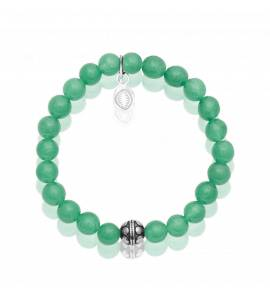 Bracelet femme acier Aventurine 2 vert