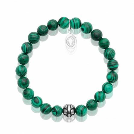 Bracelet femme acier Malachita vert