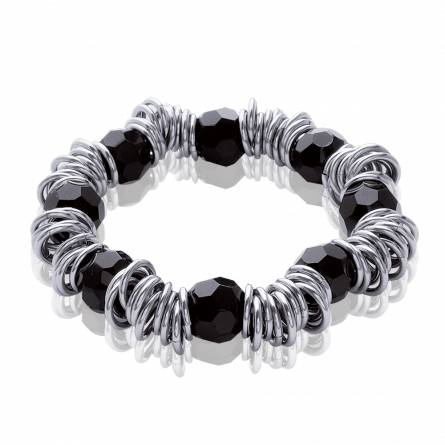 Bracelet femme acier Noa noir