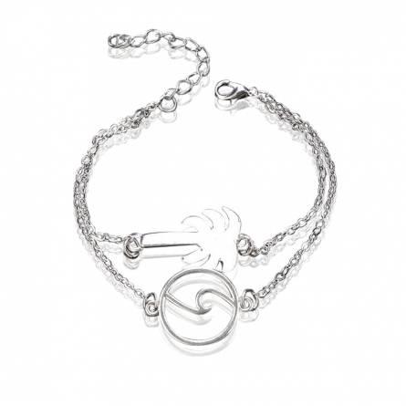 Bracelet femme acier Sea & Palm 1