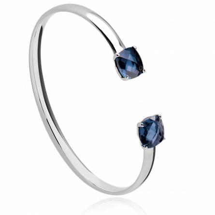 Bracelet femme argent Adrile bleu